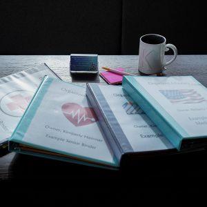 Senior binder for Organized Advocacy